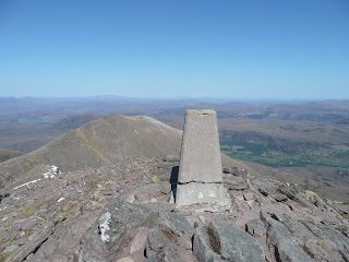 Glas Meall Mor from Bidein a Ghlas Thuill Summit Trig Point