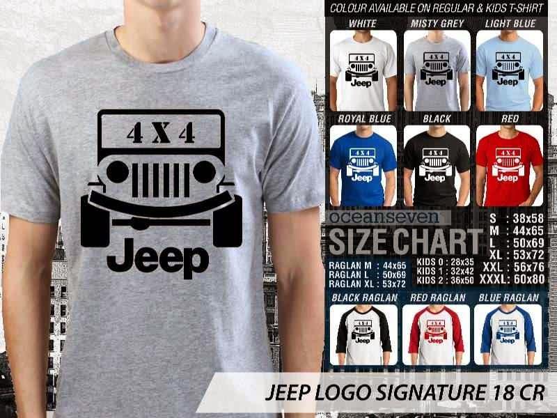 jual kaos jeep Logo Signature 18 4 X 4 distro