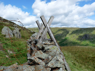The stile to cross to gain access to Sergeants Crag.