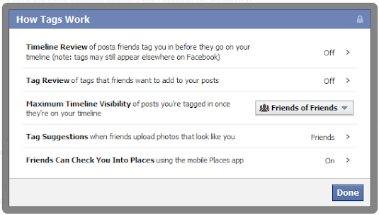 how the tagging works on facebook