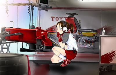 иллюстрация Toyota TF110 via simataka_akabon
