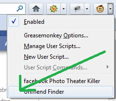 disable Unfriend finder in Facebook