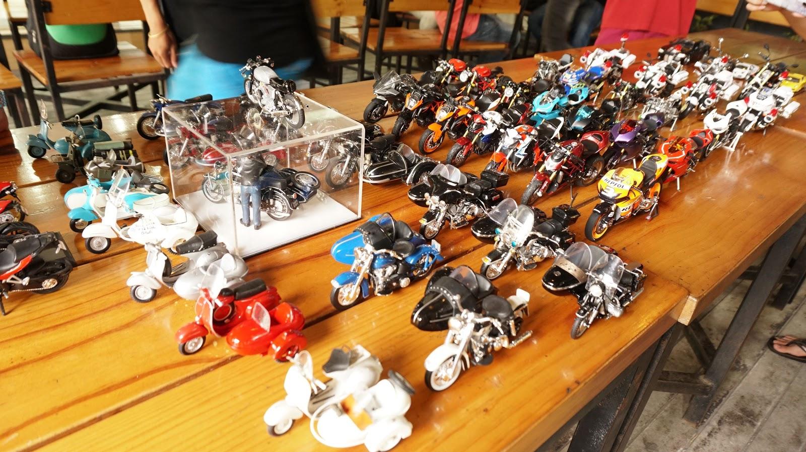 Dàn xe mô hình của các thành viên, đủ các thể loại, đủ các dòng xe