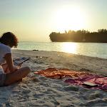 zachód słońca, relaks po wielogodzinnym podglądaniu rybek