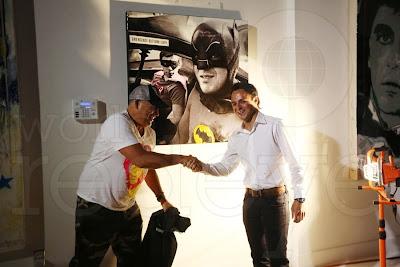 Фелипе Масса в роли Бэтмена на картине Леонардо Идальго