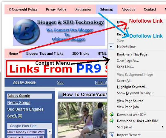 show nofollow and dofollow links in firefox
