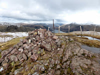 Steel Fell Summit Cairn with part of Thirlmere in the distance