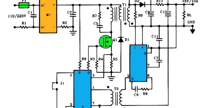 5v 10a Output Switching Power Supply