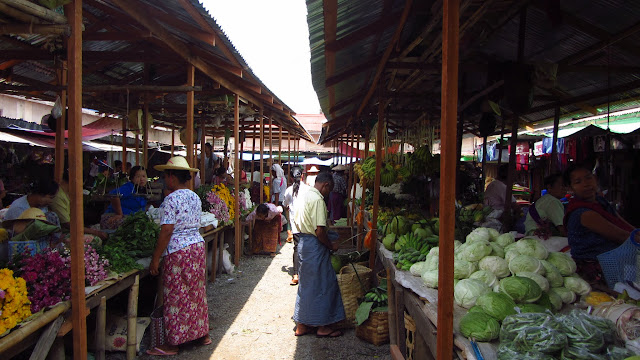 We enjoyed checking out the local market in Nyaungshwe.