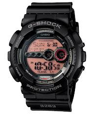 Jam Tangan Pria Hitam Gold Casio G-Shock : GWG-1000GB-1A