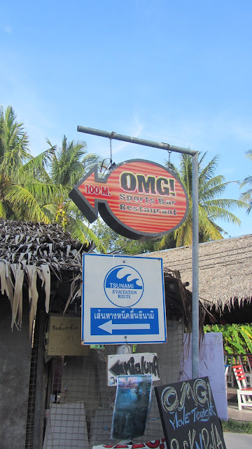 These bars are conveniently located along the Tsunami evacuation route...