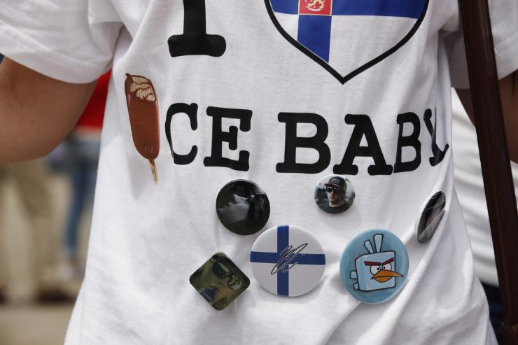 футболка Ice Baby Кими Райкконена на Гран-при Китая 2012