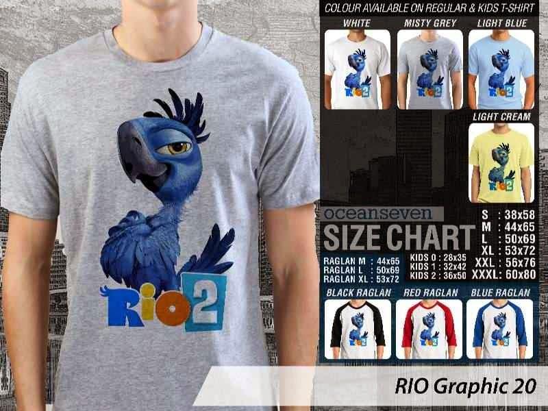 Kaos Film Animasi Lucu Desain RIO Graphic 20 distro ocean seven