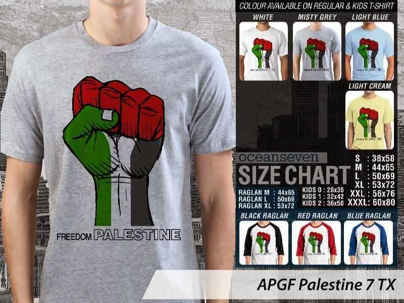 Kaos Muslim Islam Palestine 7 distro ocean seven