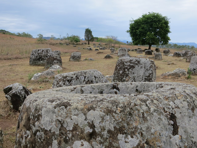 The mysterious Plain of Jars - nobody knows what they are or why they are here.
