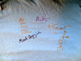 My Big Country t-shirt, signed by all members of the band