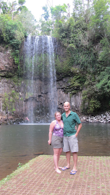 The Millaa Millaa Waterfalls in the Atherton Tablelands. A famous Herbal Essence shampoo commercial was filmed here.