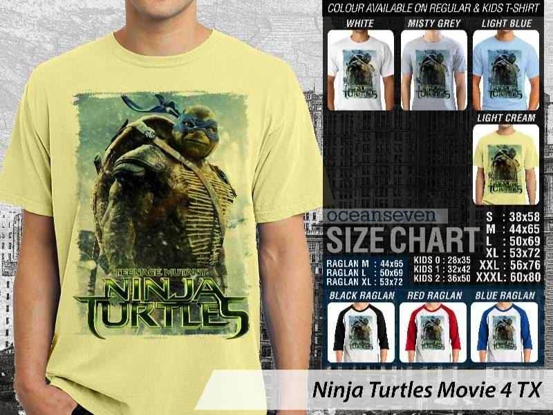 Kaos Movie Film Ninja Turtles Movie 4 distro ocean seven