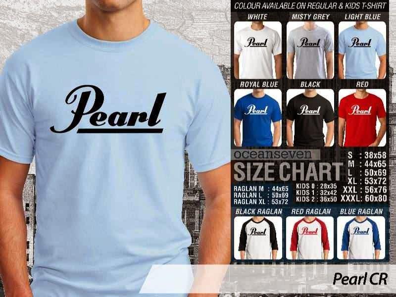 Kaos personel band Pearl Logo Alat Musik distro ocean seven
