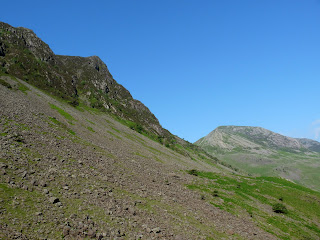 The slopes of Haystacks are steep and of scree.