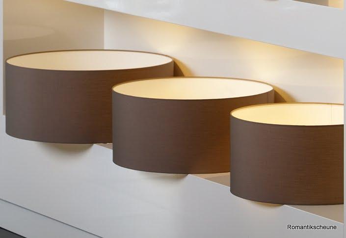 Lampenschirm polycotton braun 3 gr en rund f r stehlampe for Lampenschirm tischlampe
