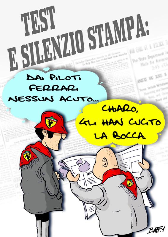 Ferrari и пресса - комикс Baffi