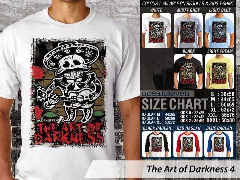 KAOS keren skull tengkorak The Art of Darkness 4 distro ocean seven