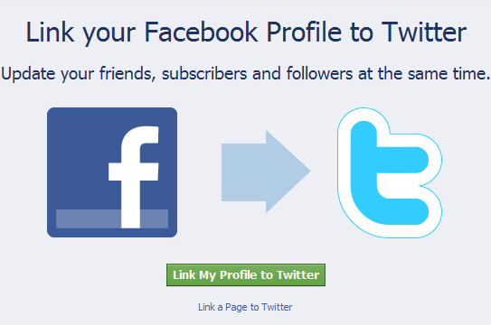share your facebook status update to twitter