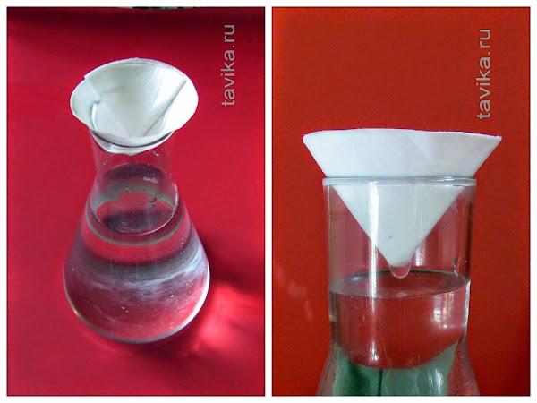 Как сделать фильтр для воды для опыта