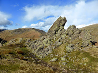 Helm Crag summit with Steel Fell