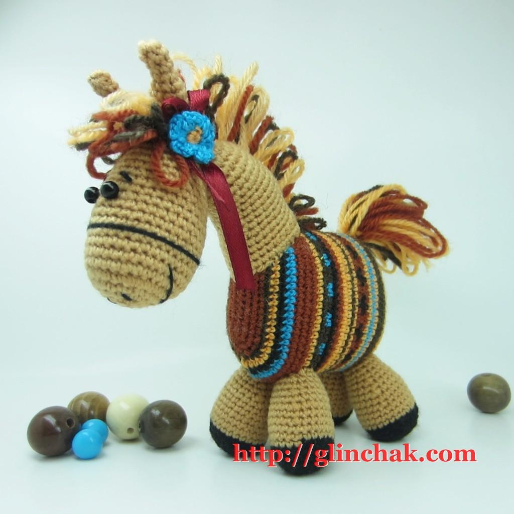 схема вязания игрушки лошади