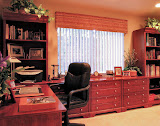 Simpson Home Office 3 of 4 - This home office features modular pieces that were combined for a built-in look. Lots of bookcases, storage, and file drawers make this beautiful room extremely functional.