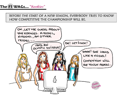 Эмилия Пиккарайнен - новичок паддока Формулы-1 - комикс TheF1Wags от FakeVivian