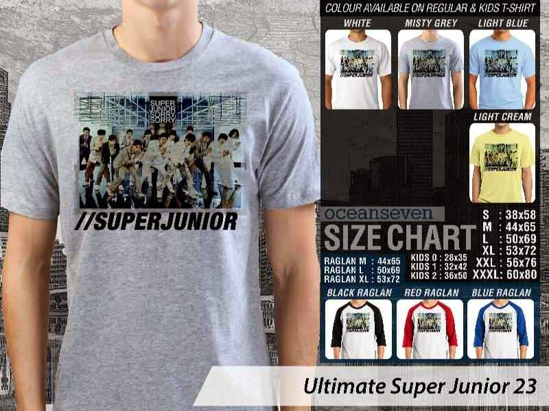 Kaos K Pop SUJU Ultimate Super Junior 23 Boy Band Asal Korea distro ocean seven