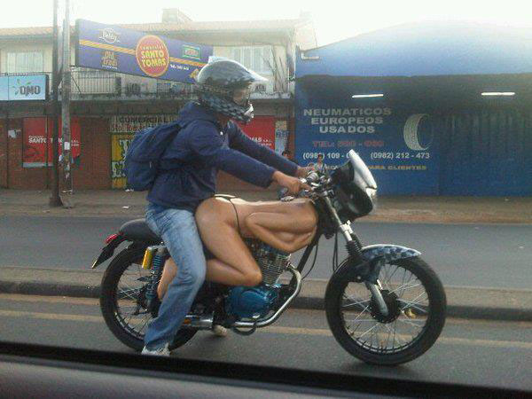 Motorbike with naked woman fuel tank and decal.