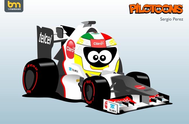 Sauber C31 Серхио Перес pilotoons 2012