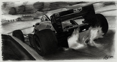 Ferrari pencil drawing