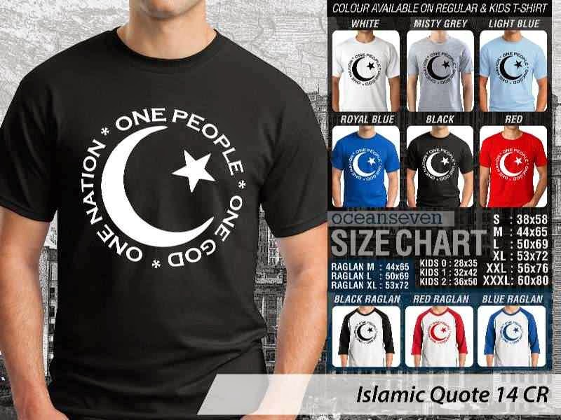 Kaos Islami Quote 14 One Nation One People One God distro ocean seven