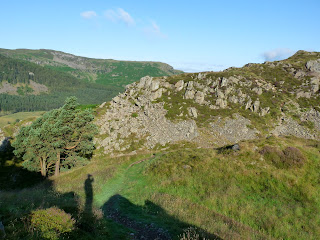 A shadow of me on High Rigg.