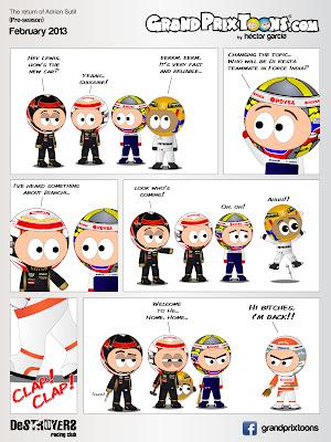 Возвращение Адриана Сутиля - комикс Grand Prix Toons