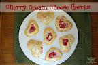 Cherry Cream Cheese Heart Pastry