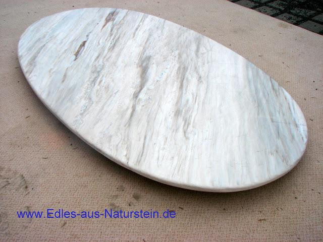 Naturstein couchtischplatte 110 70 tischplatte marmor for Marmor tischplatte oval