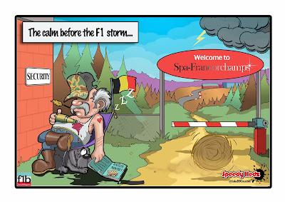 Затишье перед бурей - комикс SpeedyHedz перед Гран-при Бельгии 2014