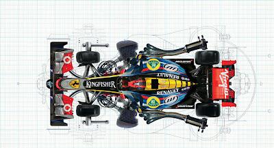 иллюстрация болида Формулы-1 из частей разных команд от Viktor Koen
