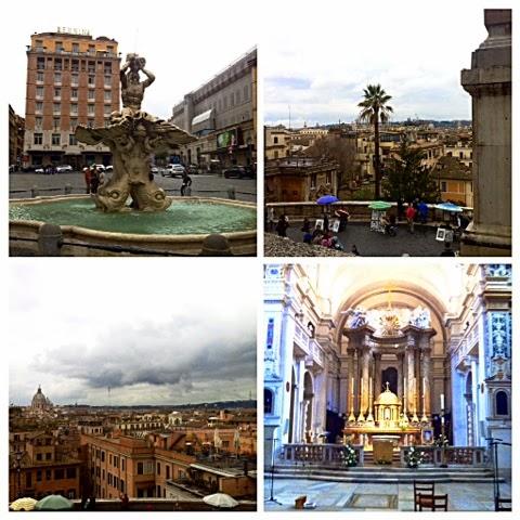kirkko, church, trinita dei monti, piazza, piazza della trinita dei monti, roma,rooma, rome, italia, travel, matkustaa, sights, nähtävyydet, suihkulähde, fountain, fontana del tritone, piazza barberini,