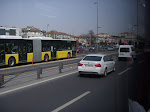 Istanbul traffic - center roads for commuting buses (very smart!)