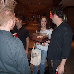 Hayley gave Al a cake after the show!