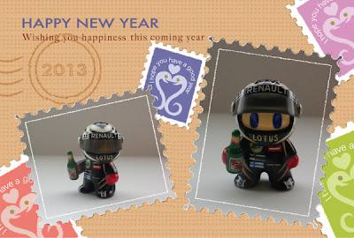 новогодняя открытка Мини Кими Райкконена от naokonen