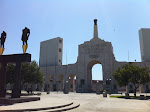 The LA Coliseum!  Site of the Olympics as well as...USC's home stadium.