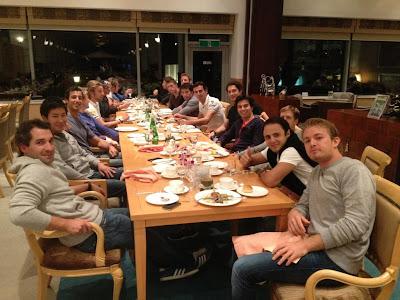 ужин GPDA на Гран-при Кореи 2012
